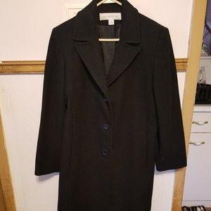 Liz Claiborne Black Wool Coat, Size 10